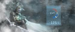 Temperaturanzeige Minus