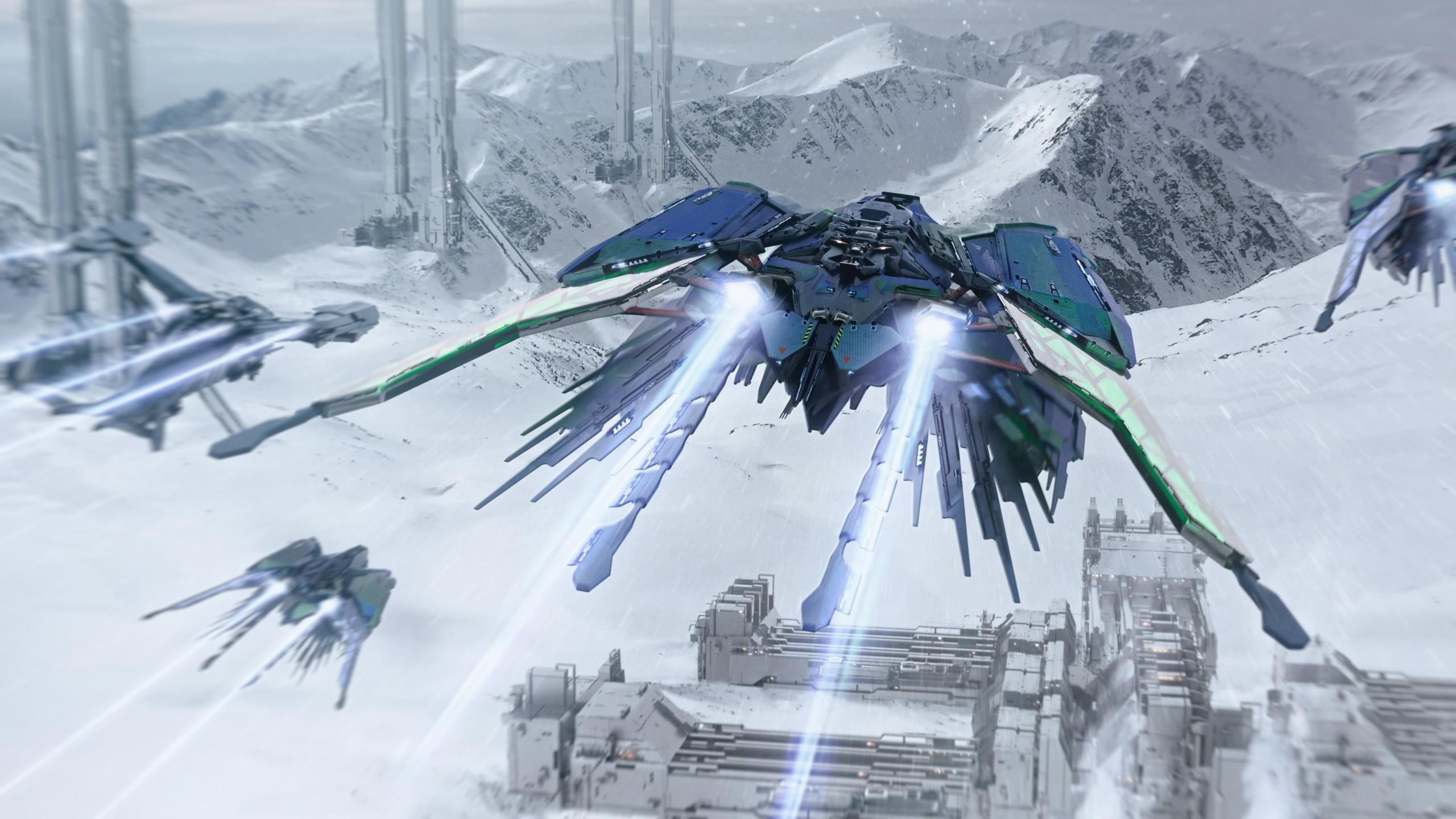 Esperia Talon - Flug über Eisplanet